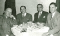 (L to R) Charlie Stuart, CWD San Joaquin County, Ron Born, CWD San Francisco, C. A. Herbage, Deputy Director SDSW, and Sam Thompson, CWD Alameda County, attended the American Public Welfare Association nationwide meeting in Chicago, December 8, 1945.