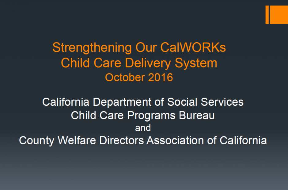Strengthening CalWORKs
