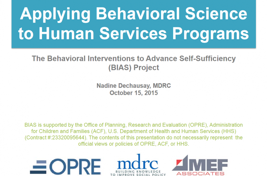 Using Behavioral Interventions